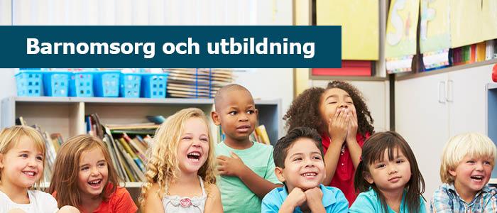 Menybild barnomsorg och utbildning